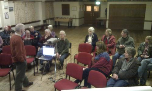 Gathering in the Village Hall