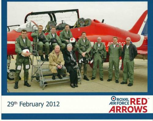 Christine & Tony with the Red Arrows