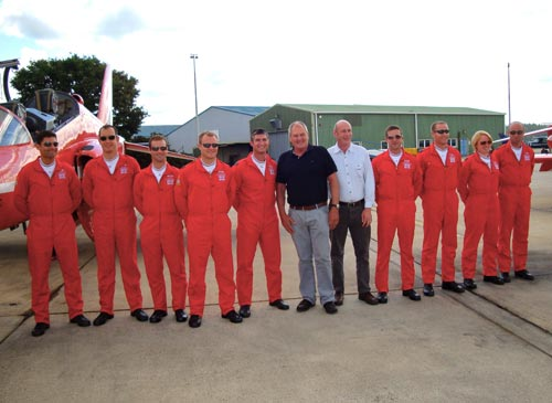 Mike and Steve with the Red Arrows