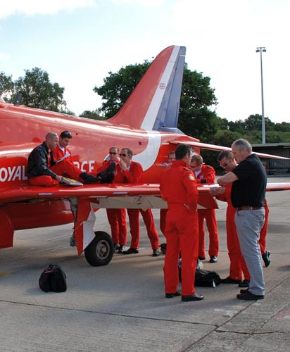 Mike with the Red Arrows