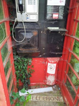 Phone box on 14th June 2012