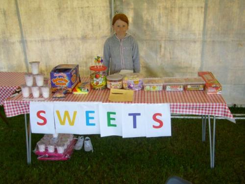 Even the young helped with a sweet stall
